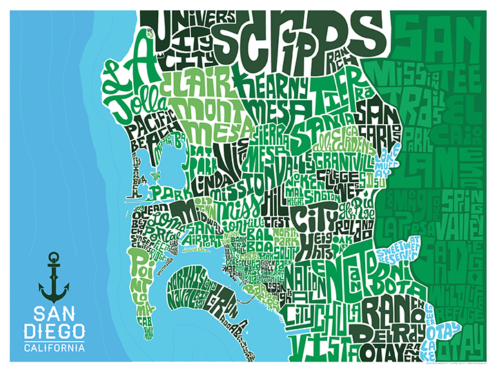 San Diego Type Map