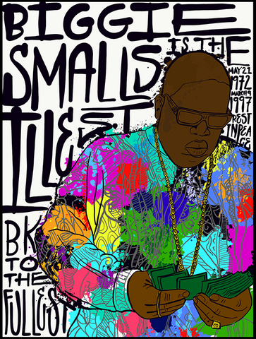 BIGGIE SMALLS Paint Splatter Illustration