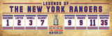 Rangers retired numbers vintage poster