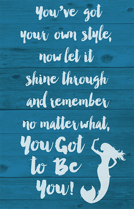 Mermaid Quote and Illustration