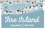 Fire Island Illustrated Map