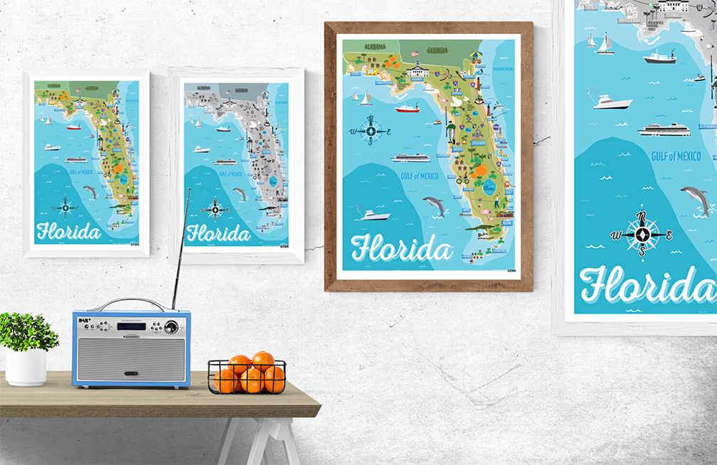 Florida Illustrated Map