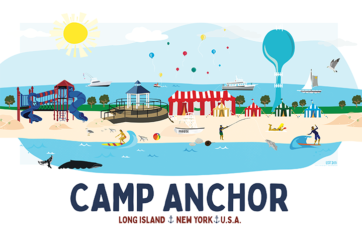 Camp Anchor Skyline Illustration