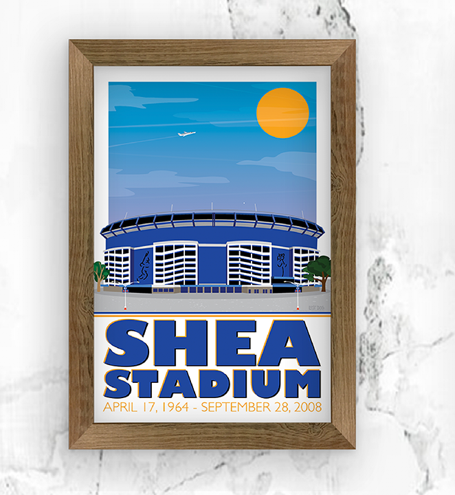 Shea Stadium Illustration