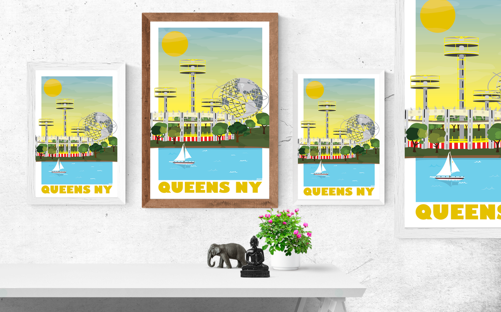 Queens, Flushing Meadow Park Illustration