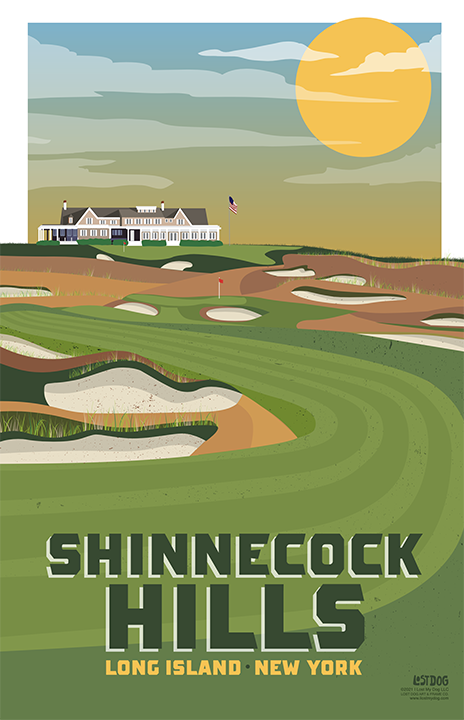 Shinnecock Hills Golf Course Illustration