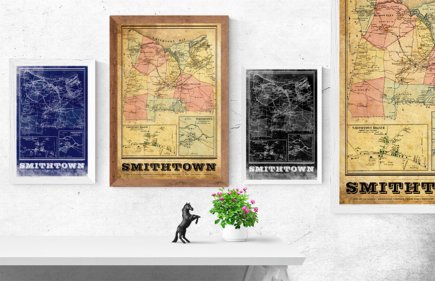 Smithtown Vintage Remixed Map