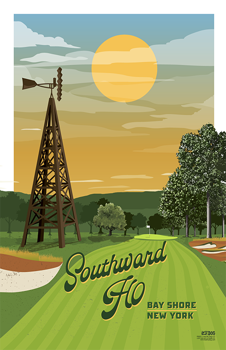 Southward Ho Golf Course Illustration