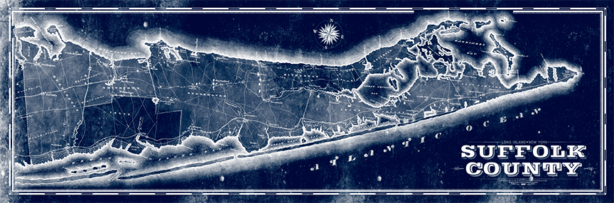 Suffolk County, Long Island Remixed Map