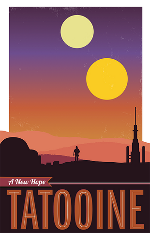 Tatooine: Star Wars Travel Poster