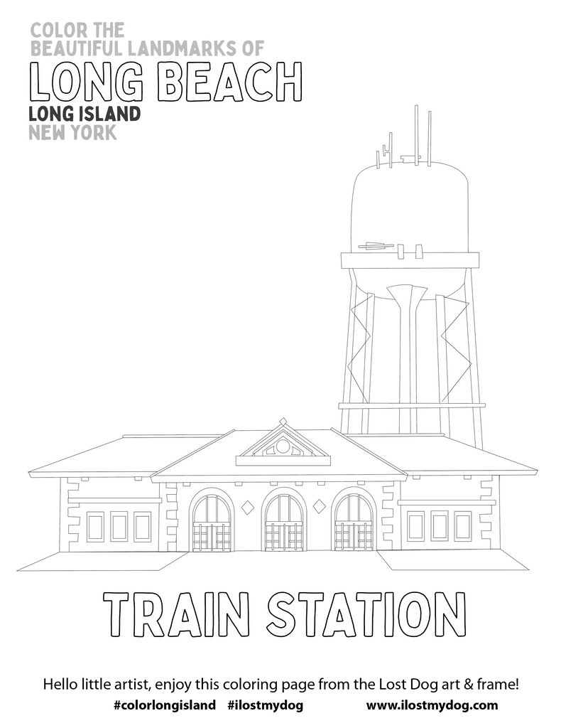 Coloring Pages: LONG BEACH