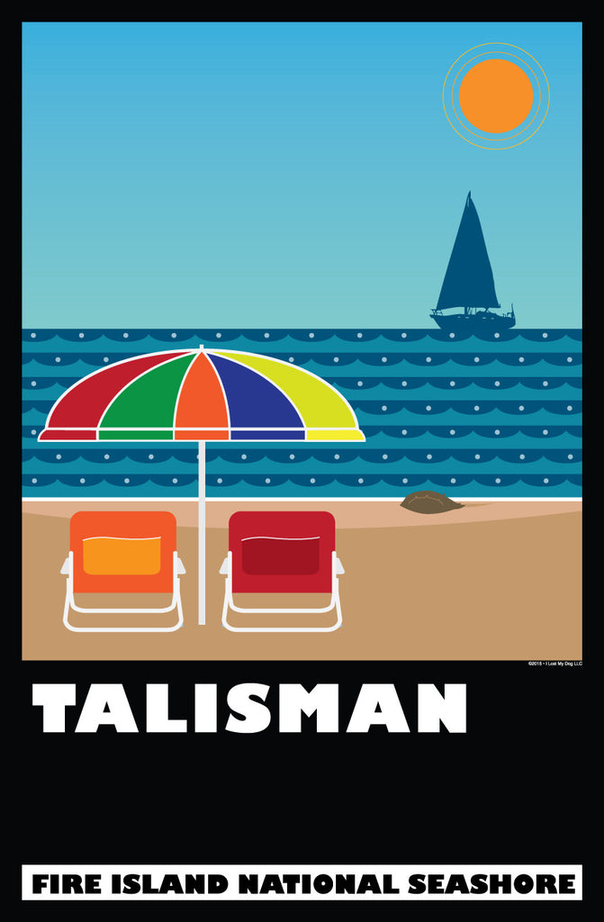 Talisman Beach Poster: National Park Series
