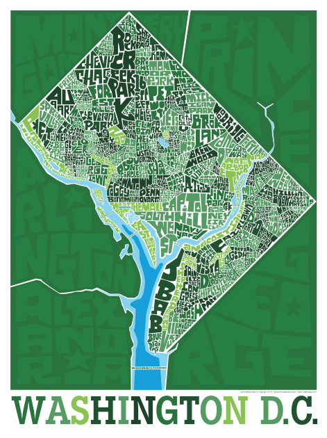 Washington DC Neighborhood Type Map
