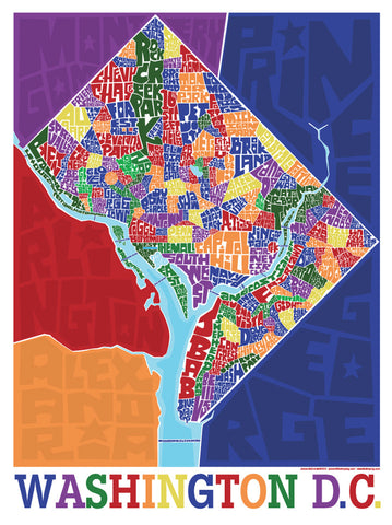 Washington DC Neighborhood Type Map I Lost My Dog