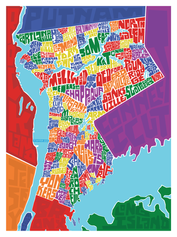 Westchester County Type Map I Lost My Dog