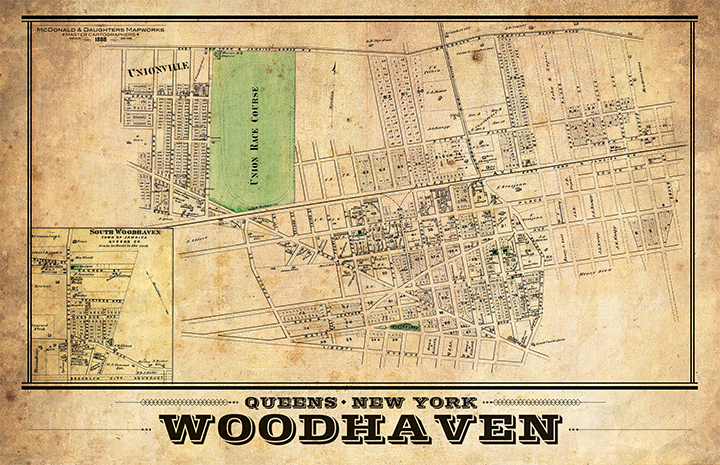 Woodhaven Vintage Remixed Map