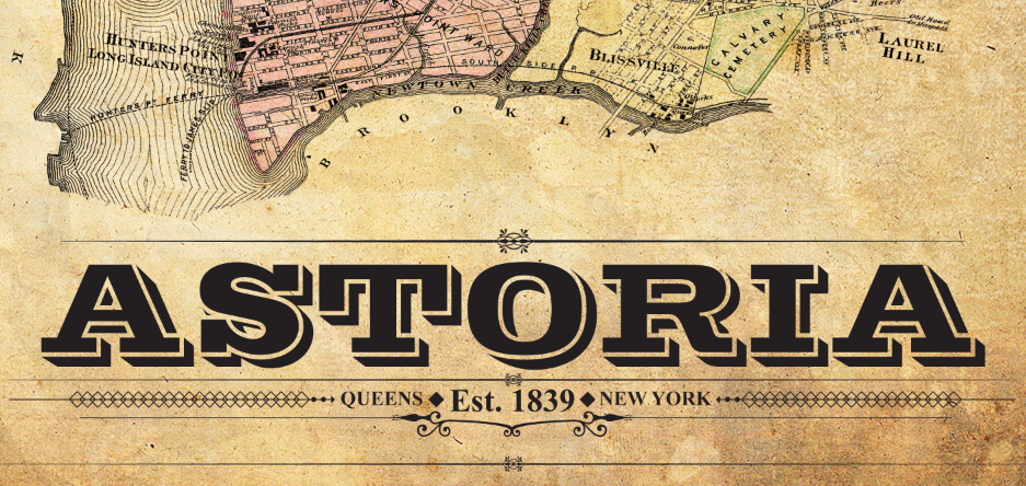 Astoria Nyc Map.Astoria Vintage Remixed Map I Lost My Dog