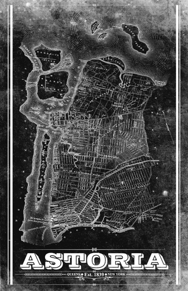 Astoria Vintage Remixed Map
