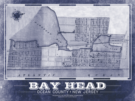 Bay Head Vintage Remixed Map