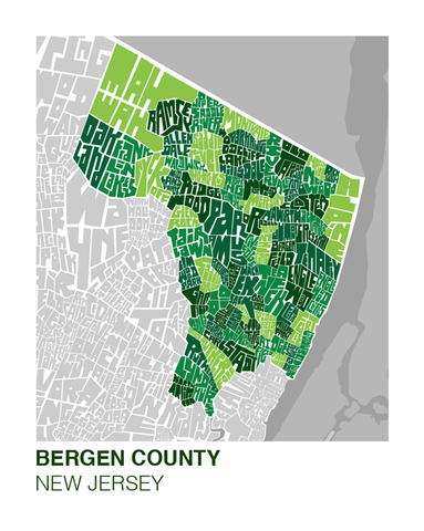 Bergen County Neighborhood Type Map I Lost My Dog - Map of bergen county nj