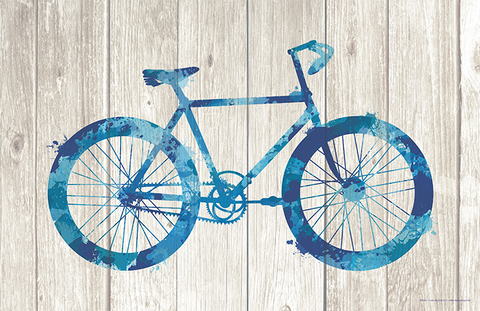 Bicycle Paint Splatter Silhouette