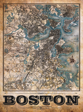 Boston Vintage Remixed Map