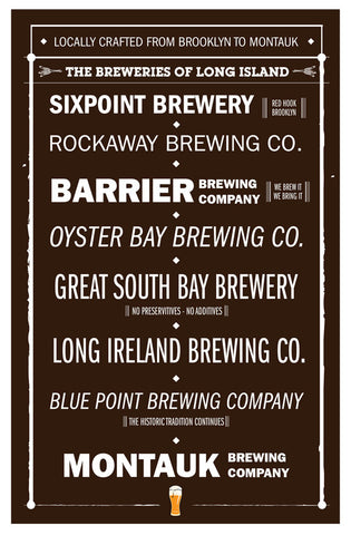 Long Island Breweries Poster