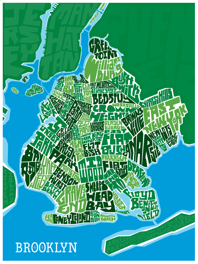 Brooklyn Type Map