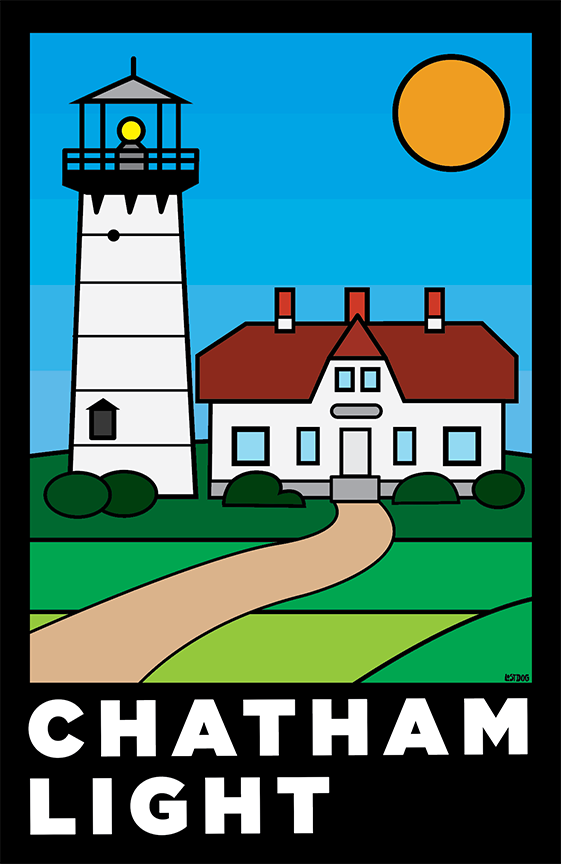 Chatham Light, Cape Cod: Thick Line Series