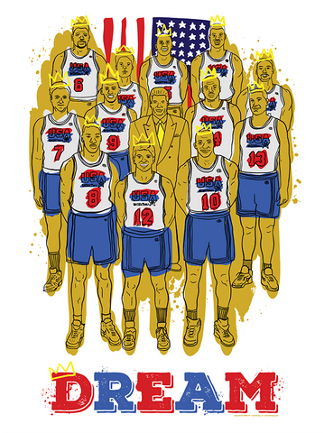 92 DREAM TEAM Illustration