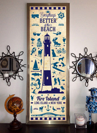 Fire Island Silhouette Poster