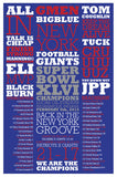 Super Bowl 46 Poster & Tickertape Combo Pack