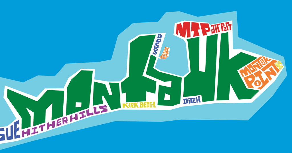 The Hamptons Typography Map