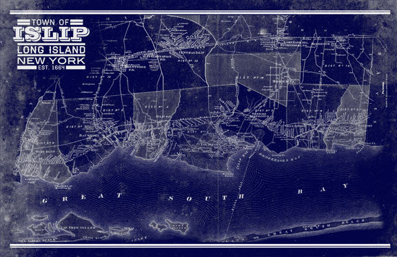 Islip Vintage Remixed Map I Lost My Dog