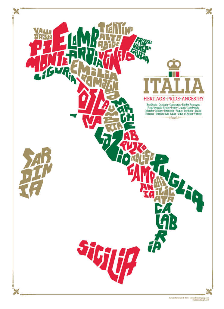Italy Type Map