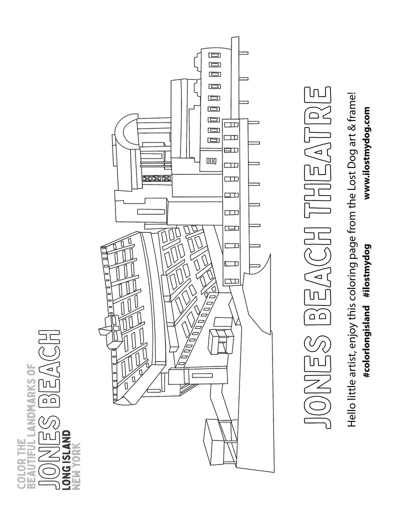 Coloring Pages: Jones Beach