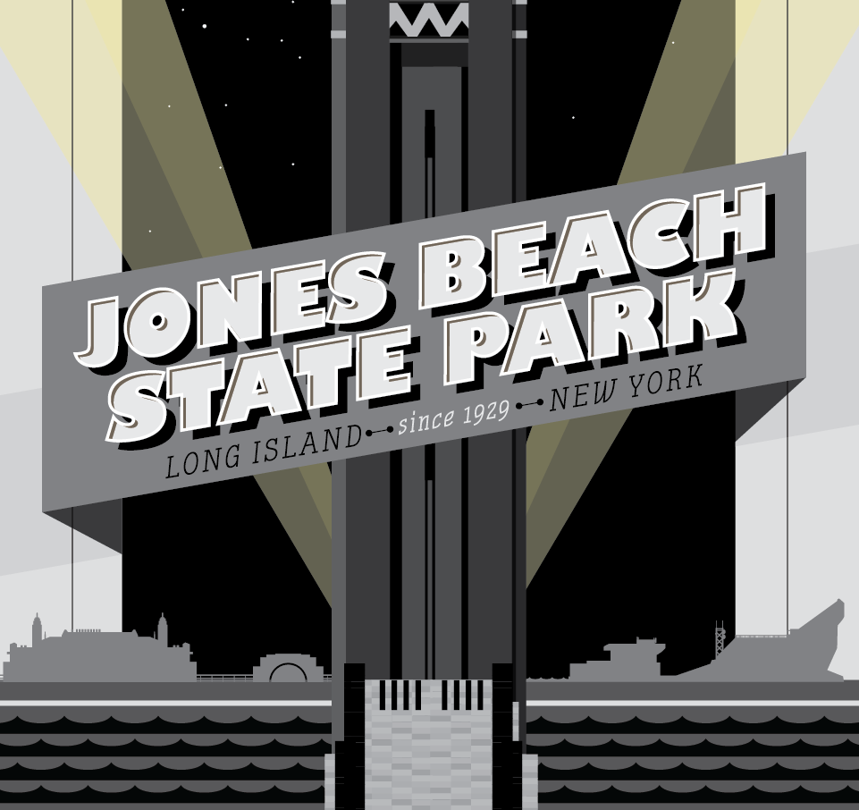 Jones Beach Icon Night Scene
