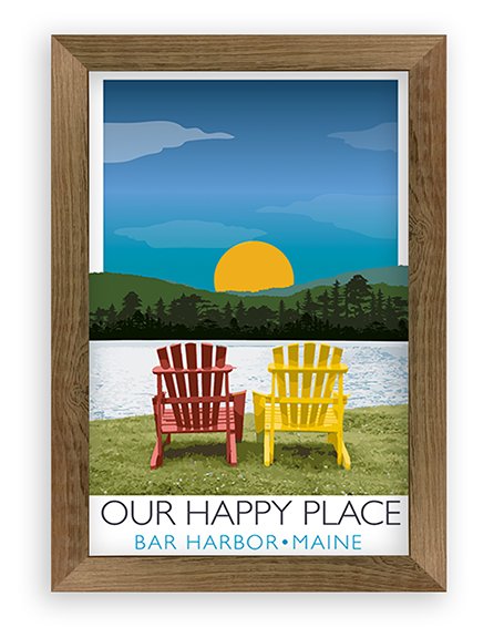 Adirondack Chair Scene – Happy Place