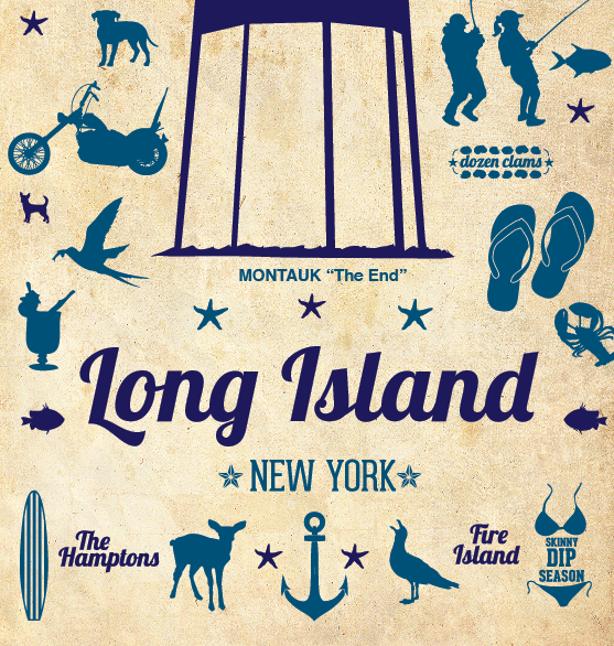 Long Island Vintage Travel Poster