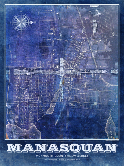 Manasquan Vintage Remixed Map
