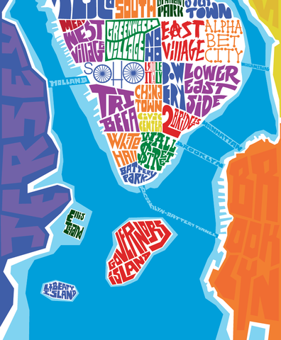 Manhattan Neighborhood Type Map I Lost My Dog