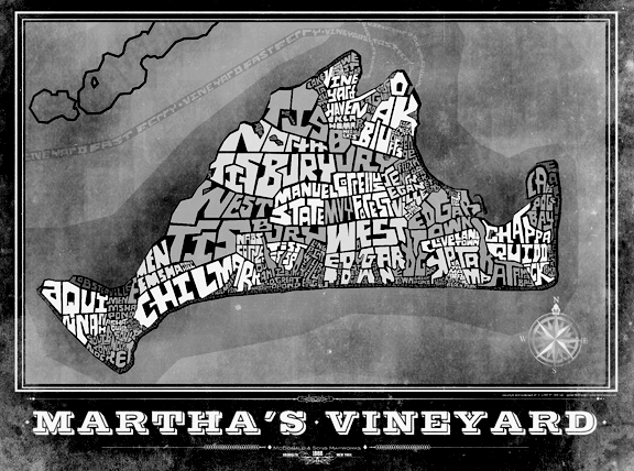 Marthas Vineyard Type Map