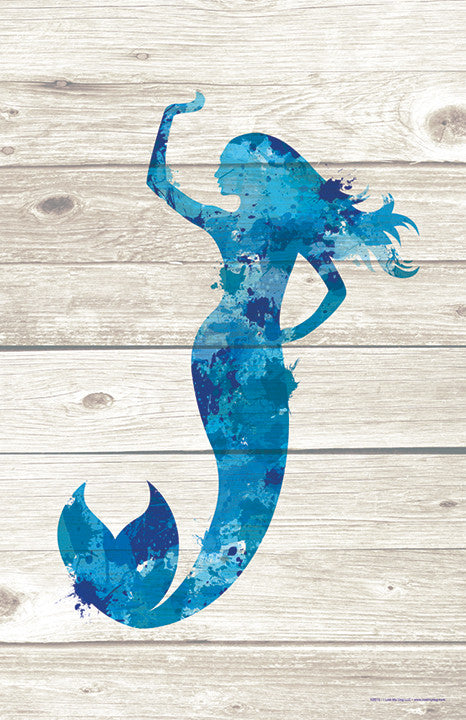 Mermaid Paint Splatter Silhouette