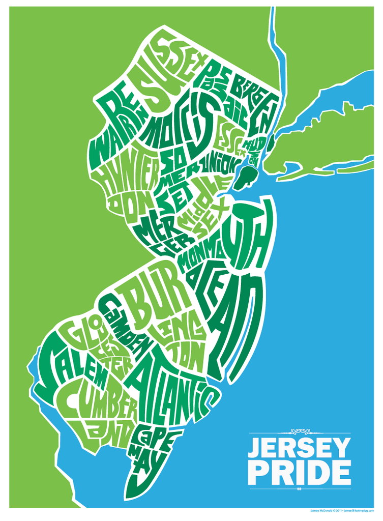 New Jersey County Map