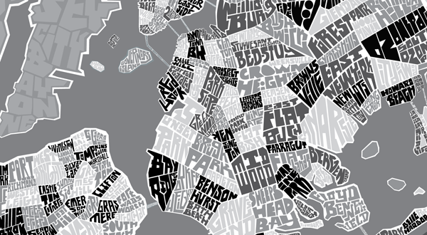 New York City Type Map