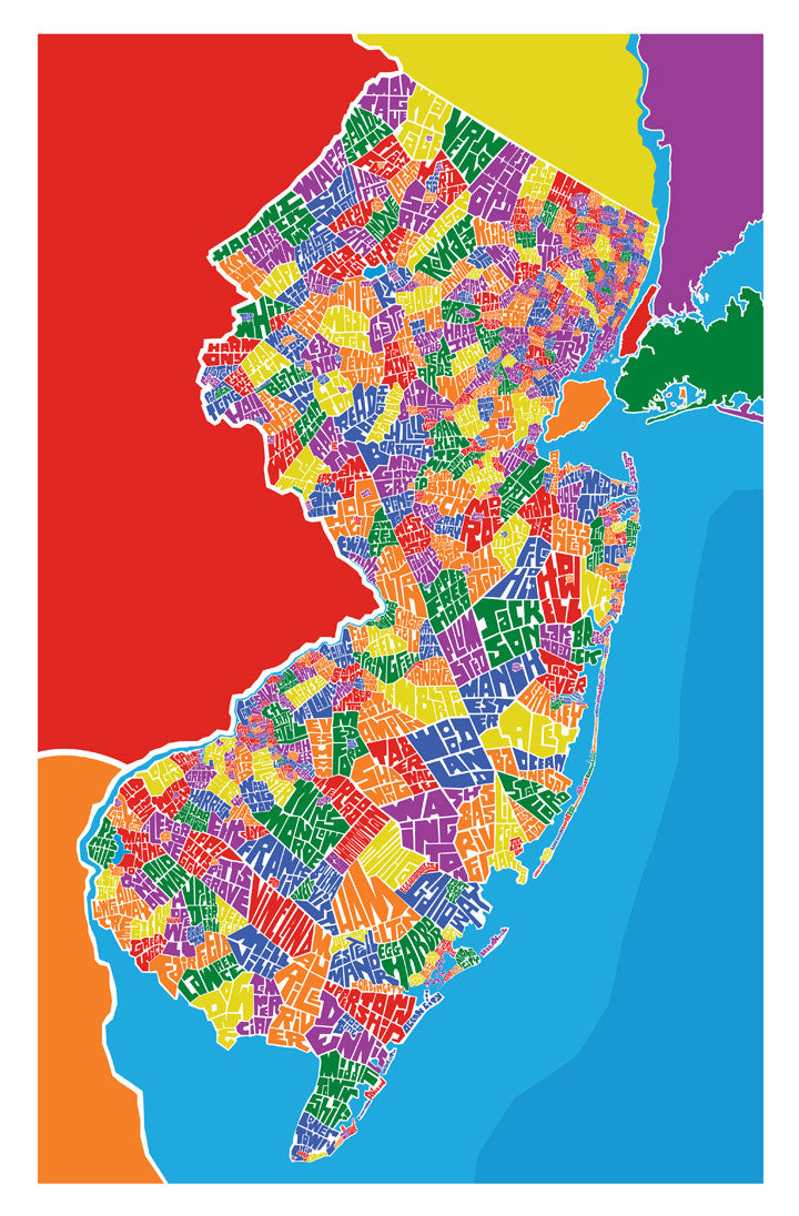 Map Of New Jersey Towns New Jersey Town Type Map – I Lost My Dog