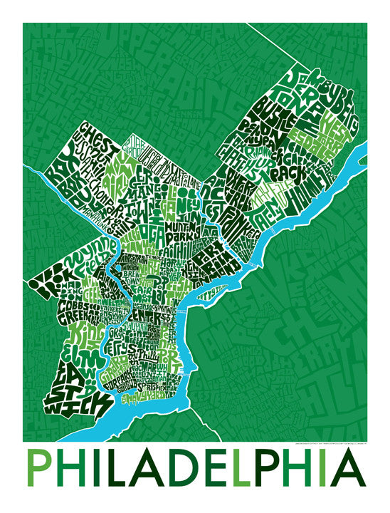 Philadelphia Neighborhood Type Map
