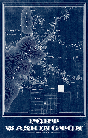 Port Washington Vintage Remixed Map