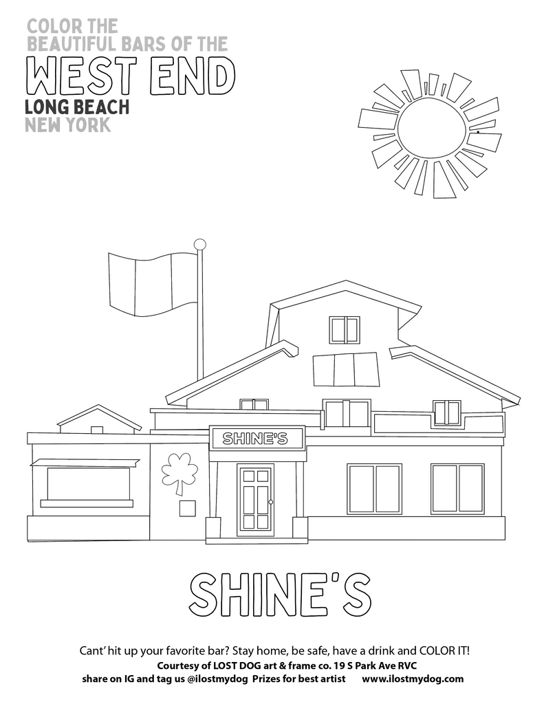 Adult Coloring Pages: Bars of West End Long Beach