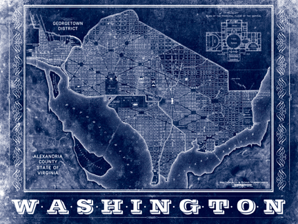 Washington DC Vintage Map
